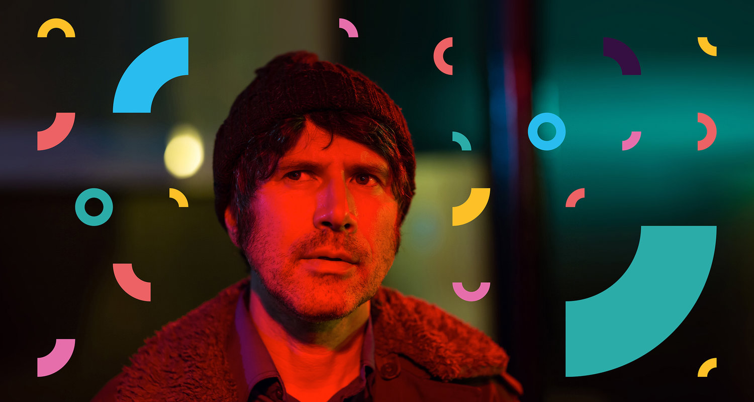Gruff Rhys shown as part of the NHS 70 Visual Identity.