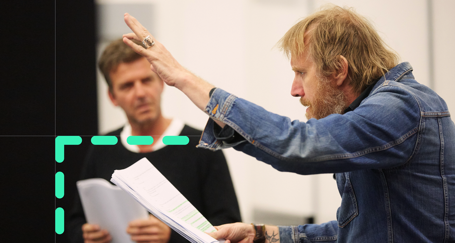 Rhys Ifans shown as part of the new National Theatre Wales Brand Identity.