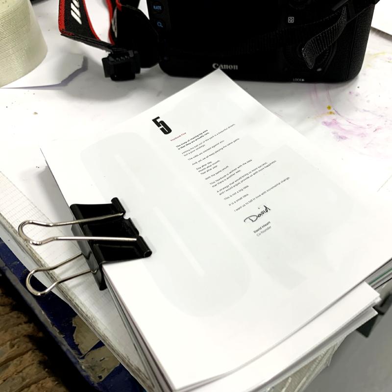 Hiut Denim Company Yearbook Five Work In Progress Cover.